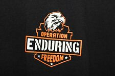 Operation Enduring Freedom Graphic T-Shirt Black 100% Cotton Sz Lg