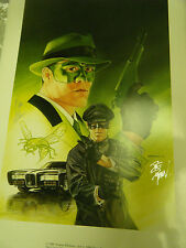 1989 Green Hornet Print Signed by artist: Dave Dorman and TV Star: Van Williams