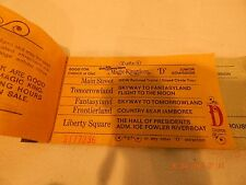 1970's Vintage Walt Disney World Tickets