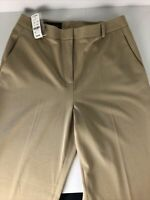 Brooks Brothers Womens Double Weave Dress Pants Slacks Size 8 Beige Tan NWT