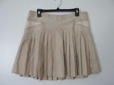 Patrick Robinson For Target Beige Pleated Side Zip 100% Cotton Skirt EUC SZ: 11