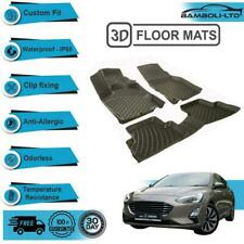 3D Floor Mats Liner Interior Protector Fit Ford Focus 5 NEW 2019-UP (Black)