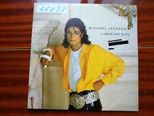 PROMO SINGLE SIDED MICHAEL JACKSON - LIBERIAN GIRL - EPIC SPAIN 1989 VG/VG+