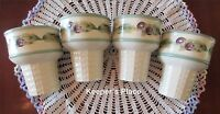 Pfaltzgraff JAMBERRY Berries Ice Cream Cone Dish Fruit Set Of 4 Mint Condition