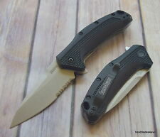"KERSHAW ""LINK"" SPRING ASSISTED POCKET KNIFE ""MADE IN USA"" RAZOR SHARP BLADE"