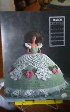 Vtg Annies Attic calendar doll crochet gown chart Miss March Antebellum