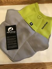 Alphadogz Vest And Harness Born To Lead Medium Grey & Green Light/reflective