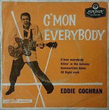 EDDIE COCHRAN C'MON EVERYBODY Vinyl EP Single 1960 Ultra Rare Aus London Label