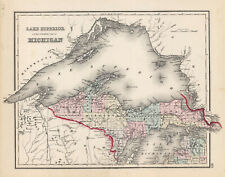 """1876 Gray's  """"Lake Superior and the Northern part of MICHIGAN"""
