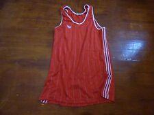 maillot de basket vintage adidas ventex rouge et blanc 67 cm sur 46cm
