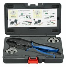 OTC Weather Pack Ratcheting Crimper Tool Kit w/ Interchangeable Heads #4484