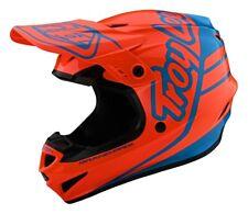 Troy Lee Designs GP Silhouette Motocross Offroad Race Helmet Orange Cyan Adults
