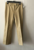 Theory Leather Pant Wide Leg Anthropologie 100% Leather Tan Pant Size 4