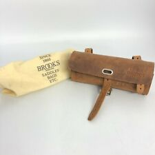 Brooks Bicycle Saddle Tool Bag Tan Brown Vintage Look Reproduction Dustbag 03022