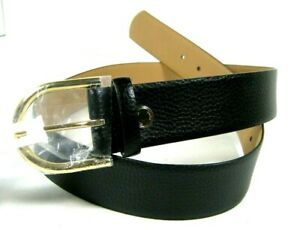 MICHAEL KORS MK Women's Black Or Brown Pebble Leather Belt w/ Gold Buckle M L XL
