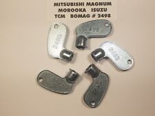 (5) Mitsubishi Keys, #2498 Magnum,TCM, Bomag, Morooka, Isuzu, Construction Equip