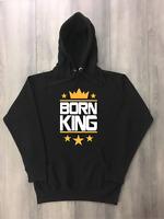 Born King Black Hoodie Pullover Sweatshirt To Match White Gold Air Jordan Retro