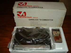 VINTAGE - VIEWSTAR CORDLESS TV CONVERTER - MODEL VS