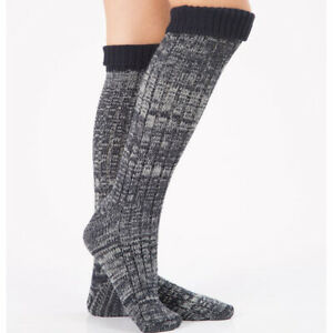 Ladies Mixed Color Over the Knee Knitted Warmer Socks Thick Warm Floor Socks