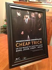 "BIG 10x13 FRAMED CHEAP TRICK ""BANG, ZOOM, CRAZY... HELLO"" LP ALBUM CD PROMO AD"