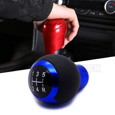 Blue 5 Speeds Car Gear Stick Shift Knob Universal Maunal Shifter Lever Cover
