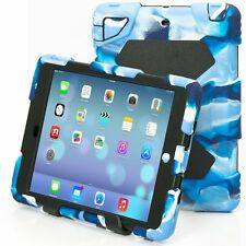 Aceguarder Shockproof Heavy Duty Rubber Stand Case Cover For iPad 2 3 4 Mini Air