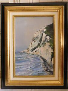 "Floriane Lefebvre (Xxème-xxième) "" of The Cliff Of White Nose "" Oil on Canvas"