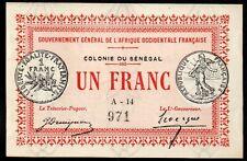AFRIQUE OCCIDENTALE FRANCAISE;SENEGAL;nécéssité;1917;NEUF,UNC
