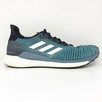 Adidas Mens Solar Glide AQ0332 Blue Black Running Shoes Lace Up Low Top Size 9.5