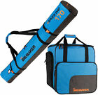 BRUBAKER Ski Bag Combo - Boot Bag and Ski Bag - Blue/Black