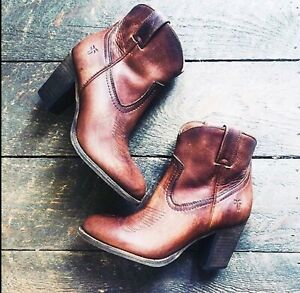 FRYE Womens Ilana Pull On Short Cognac Boots 8 M MSRP $ 288.00