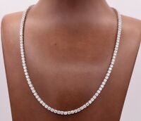 3mm Round Cut CZ Tennis Chain Necklace Real Solid Sterling Silver ANTI TARNISH
