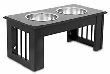 Internet's Best Traditional Elevated Pet Feeder - 2 Medium Dog Bowls - Decorativ