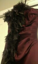 Maxi, reached,burgundy,Wedding, prom, party,dress, comes with free father boa!!!