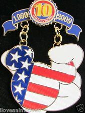 Disney 10th Mickey Mouse Icon American Flag Tribute Artist Proof AP Pin