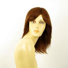 perruque femme 100% cheveux naturel châtain clair cuivré ref JULIE 30