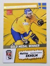 2018 BY cards IIHF WC Gold Medal Winner Sweden #32 Mattias Ekholm #/25