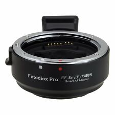 Fotodiox EF-qualsiasi (e) SMART AF LENS MOUNT ADAPTER CANON EOS EF EF-S a Sony E Mount