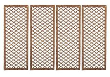 Set of 4 x Framed Willow Trellis - Garden Climbing Plant Wall Trellises