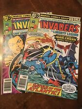 Lot of 2 Marvel The Invaders #37 38 1st app Lady Lotus comic books bronze age