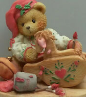 "Cherished Teddies Ginger ~ ""Painting Your Holidays With Love Figurine"" 1995"