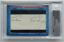 2013 Leaf Masterpiece President Calvin Coolidge Cut Auto Signed 1 of 1 Beckett