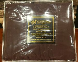 NEW AZIZEH'S LINEN Twin Sheet Set Executive Collection by Dahdoul 2100 Thread