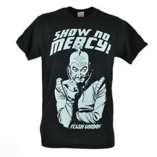 Flash Gordon Show No Mercy Graphic Super Hero Character Black Tshirt Tee