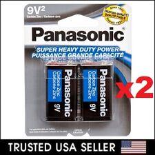 4 Wholesale 9V Panasonic 9 Volts Batteries Battery Super Heavy Duty Lot