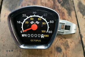 Retro Octopus Speedometer / Odemeter with Fitting Bracket. 26'' Wheel. *NOS