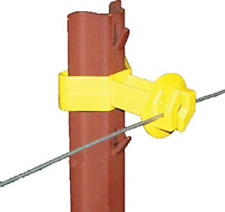 Electric Fencing Insulator, Chain Link and U-Post, Yellow, 25-Pk.