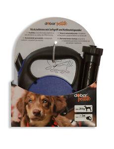 Ausziehleine mit Kotbeutelspender Aufrollfunktion Leine Hund 5m 20 kg