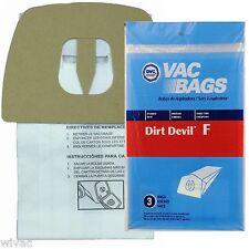 Dirt Devil F Bags CanVac and Power Pak Vacuum Bags (3pk)
