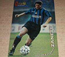 CARD CALCIATORI PANINI 98 INTER ZANETTI CALCIO FOOTBALL SOCCER ALBUM